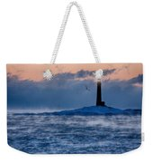 Thacher Island Lighthouse Seagull Passes Weekender Tote Bag