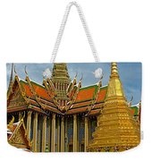 Thai-khmer Pagoda And Golden Chedis At Grand Palace Of Thailand  Weekender Tote Bag