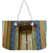 Thai-kmer Pagoda Window At Grand Palace Of Thailand In Bangkok Weekender Tote Bag