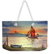 Thames Barge At Maldon Essex Weekender Tote Bag