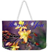 Thank You Card Weekender Tote Bag