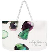 Thank You - Gratitude Rocks By Sharon Cummings Weekender Tote Bag by Sharon Cummings