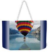 Thank You Hot Air Balloon In Alaska Weekender Tote Bag