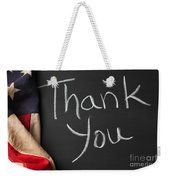 Thank You Sign On Chalkboard Weekender Tote Bag