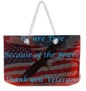 Thank You Veterans Weekender Tote Bag