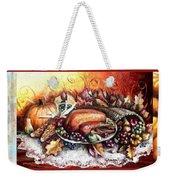 Thanksgiving Autumnal Collage Weekender Tote Bag