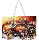 Thanksgiving Dinner Weekender Tote Bag by Shana Rowe Jackson