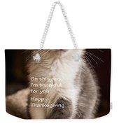 Thanksgiving Kitty Weekender Tote Bag