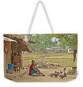 Tharu Farming Village Landscape-nepal Weekender Tote Bag