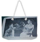 That Me Fighting Erving Nard In 1954 Weekender Tote Bag
