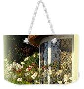 Thatched Cottage Window Weekender Tote Bag