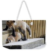 That's Not Helping - Two Fox Kits Weekender Tote Bag