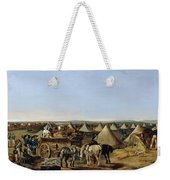 The 10th Regiment Of Dragoons Arriving Weekender Tote Bag