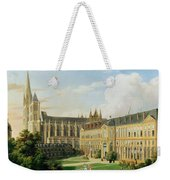 The Abbey Church Of Saint-denis And The School Of The Legion Of Honour In 1840 Oil On Canvas Weekender Tote Bag