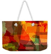 The Abstract States Of America Weekender Tote Bag by Design Turnpike