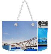 The Admiral Collage Weekender Tote Bag