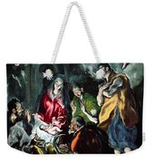 The Adoration Of The Shepherds From The Santo Domingo El Antiguo Altarpiece Weekender Tote Bag
