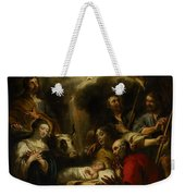 The Adoration Of The Shepherds Weekender Tote Bag by Jan Cossiers