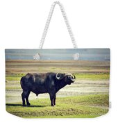 The African Buffalo. Ngorongoro In Tanzania. Weekender Tote Bag