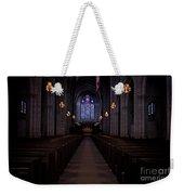 The Aisle Of Princeton Chapel Weekender Tote Bag