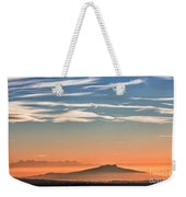 The Alps Sunset Over Fog Weekender Tote Bag