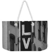 The Alva - Black And White Weekender Tote Bag
