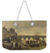 The Ambulance De La Presse At Joinville During The Siege Of Paris Oil On Canvas Weekender Tote Bag