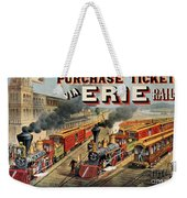 The American Railway Scene  Weekender Tote Bag by Currier and Ives