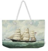 The American Ship Olive S Southard Of San Francisco In French Waters Off Le Havre Weekender Tote Bag