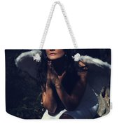 The Angel Prayed Weekender Tote Bag by Laurie Search