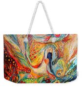 The Angels On Wedding Triptych - Center Weekender Tote Bag