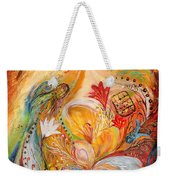 The Angels On Wedding Triptych - Left Side Weekender Tote Bag