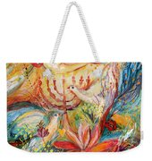 The Angels On Wedding Triptych - Right Side Weekender Tote Bag