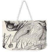 The Animal That Came Out Of The Sea And Ate Up All The Food That Suleiman-bin-daoud Had Made Ready F Weekender Tote Bag
