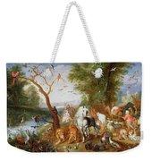 The Animals Entering Noahs Ark Panel Weekender Tote Bag