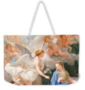 The Annunciation Weekender Tote Bag by Giovanni Odazzi