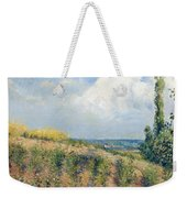 The Approaching Storm Weekender Tote Bag by Camille Pissarro