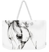The Arabian Horse Sketch Weekender Tote Bag
