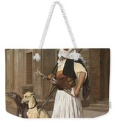 The Arnaut With Two Whippets Weekender Tote Bag