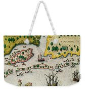 The Arrival Of The English In Virginia Weekender Tote Bag