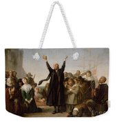 The Arrival Of The Pilgrim Fathers Weekender Tote Bag