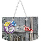 The Art Of Disney Signage Selective Coloring Digital Art Weekender Tote Bag