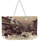 The Attack At Dawn Weekender Tote Bag