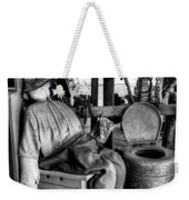 The Aussie Dunny Can - Black And White Weekender Tote Bag