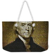 The Author Of America Weekender Tote Bag
