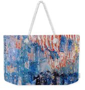 The Avenue In The Rain Weekender Tote Bag by Frederick Childe Hassam
