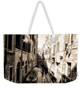 The Back Canals Of Venice Weekender Tote Bag
