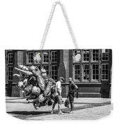 The Balloon Seller Mono Weekender Tote Bag