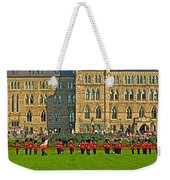 The Band Played On In Front Of Parliament Building In Ottawa-on Weekender Tote Bag