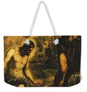 The Baptism Of Christ Weekender Tote Bag by Jacopo Robusti Tintoretto